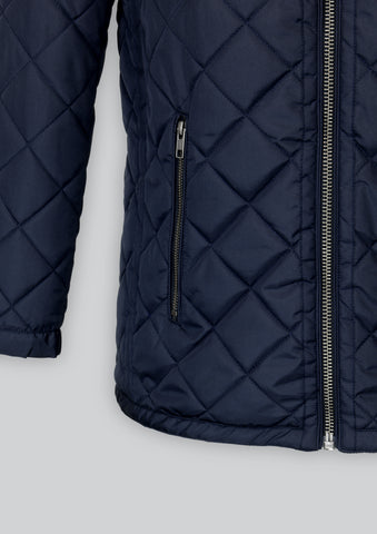 Brandon Navy Quilted Jacket