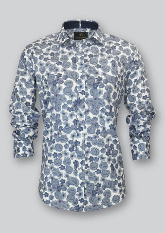 Blake Shirt in Denim Blue Floral