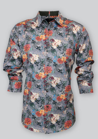 Nigel Grey Floral Shirt