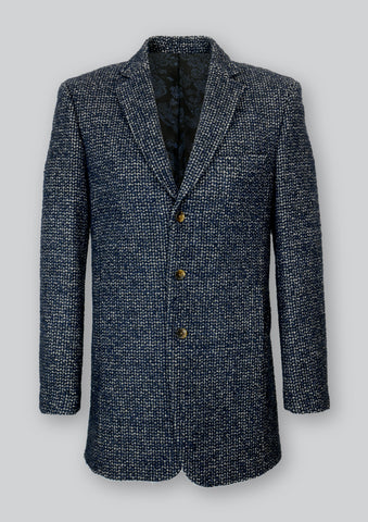Lucas Coat in Textured Navy