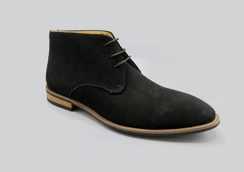 Finn Suede Boot in Black