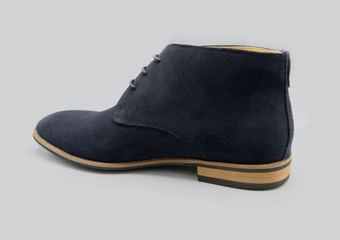 Finn Suede Boot in Navy