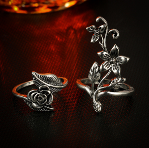 Flower Stunner 4pcs Ring Set