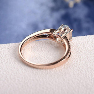 Rose Gold Aquamarine Ring