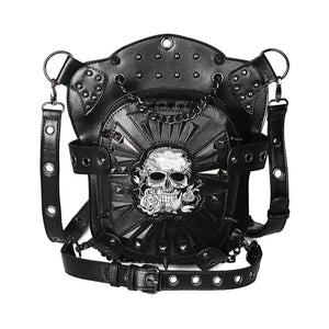 Halloween Punk Skull Multi-purpose One-shoulder Cross-strap Fanny Pack