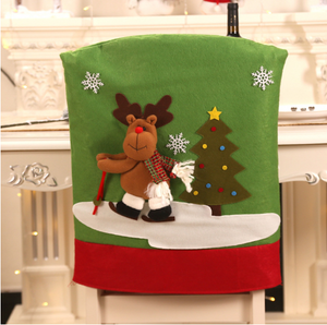 Christmas 2020 New Christmas Decoration New Santa Claus Chair Cover for Ski Chair New Year Table Chair Sets