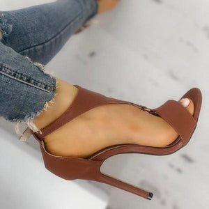 Adjustable Buckle Thin High Heel Sandals