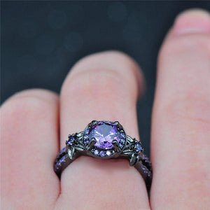 Black Gold Amethyst Ring