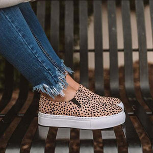 Daily Casual Comfy Leopard Slip-on Sneakers
