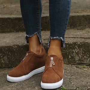 Womens All Season Zipper Casual Sneakers