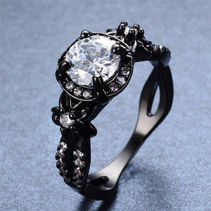 Black Gold Round Diamond Ring