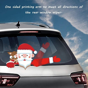 Car Rear Window Wiper Christmas Sticker, Christmas Day Decorations, Cute Window Sticker
