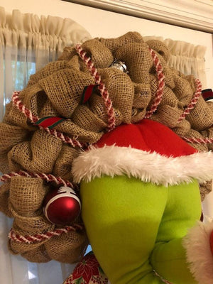 How the Grinch Stole Christmas Burlap Wreath