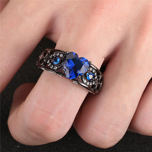Black Gold Angel's Heart September Ring