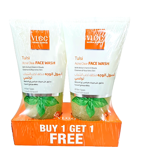 VLCC Tulsi Acne Clear Face Wash B1G1 Free