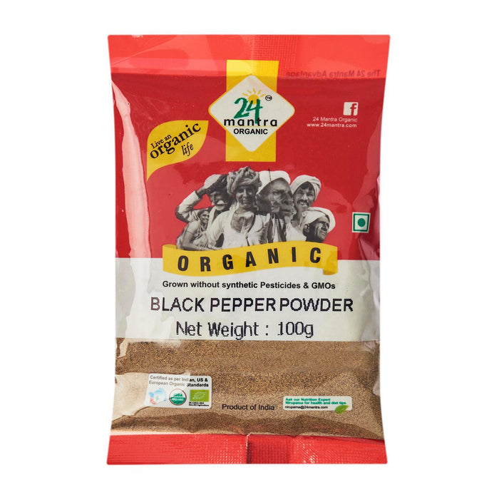24 Mantra Organic Black Pepper Powder