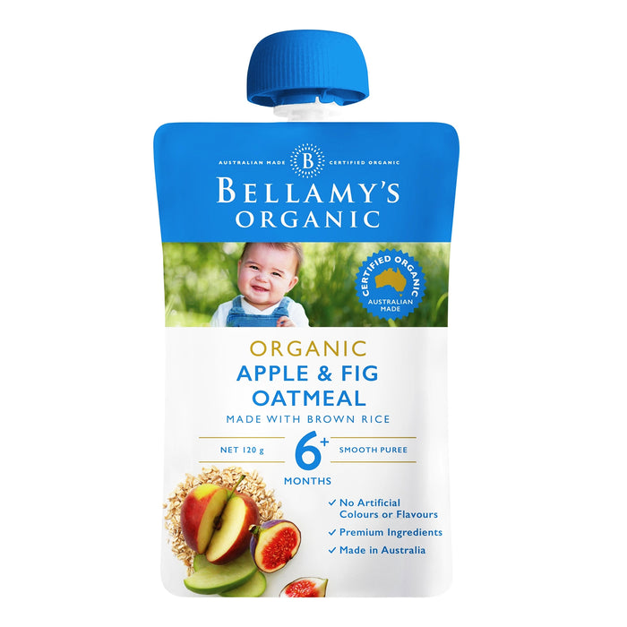 Bellamy's Organic Baby Food - Apple & Fig Oatmeal