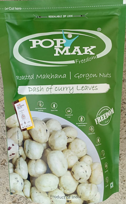 Popmak Roasted Makhana / Water Lily Seeds - Dash Of Curry Leaves
