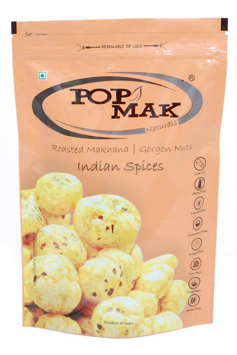 Popmak Roasted Makhana/Water Lily Seeds - Indian Spices