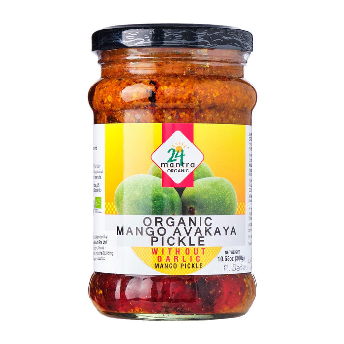 24 Mantra Organic Mango Avakaya Pickle Without Garlic