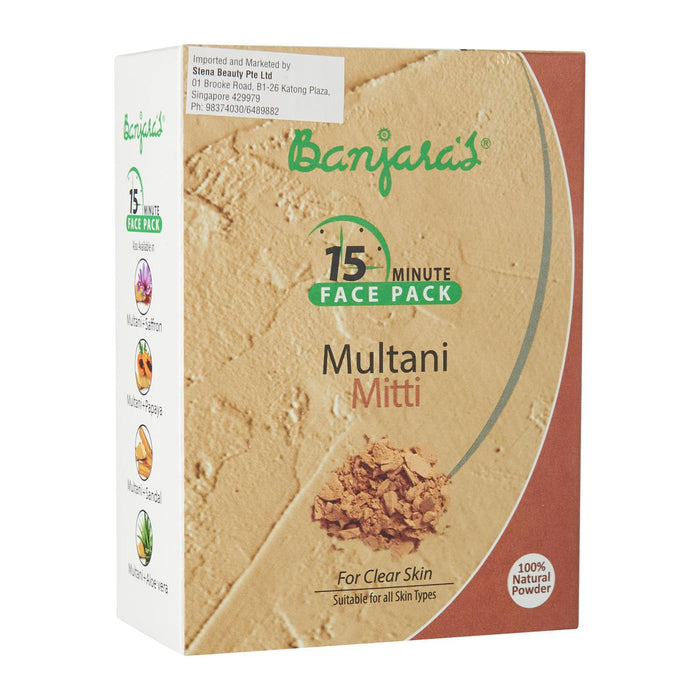 Banjara's Multani Mitti Face Pack Powder  (5*20gms)