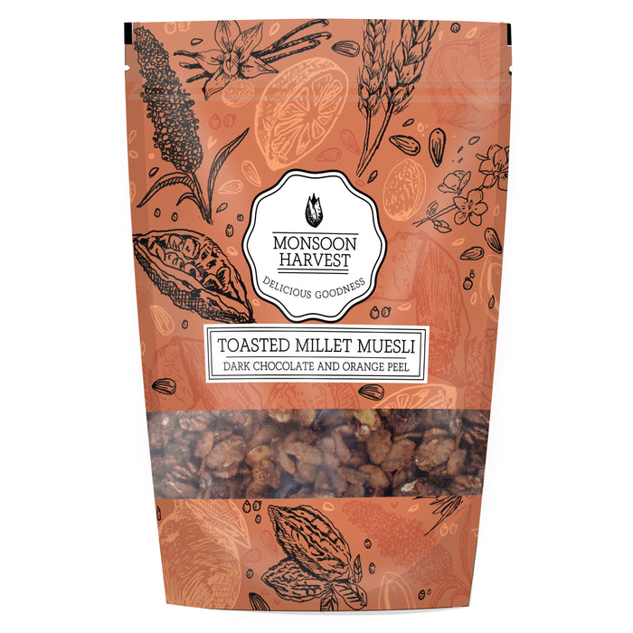 Monsoon Harvest Gluten Free Dark Chocolate With Orange Peel Muesli