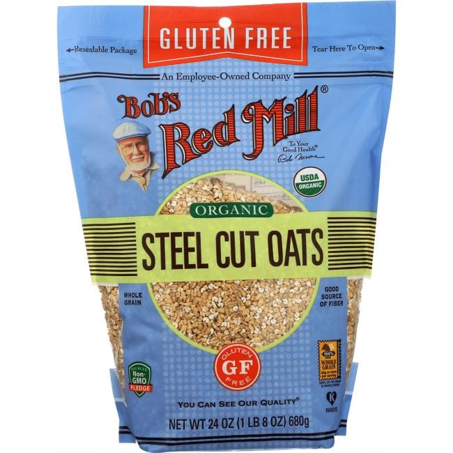 Bob's Red Mill Organic Gluten Free Whole Grain Steel Cut Oats