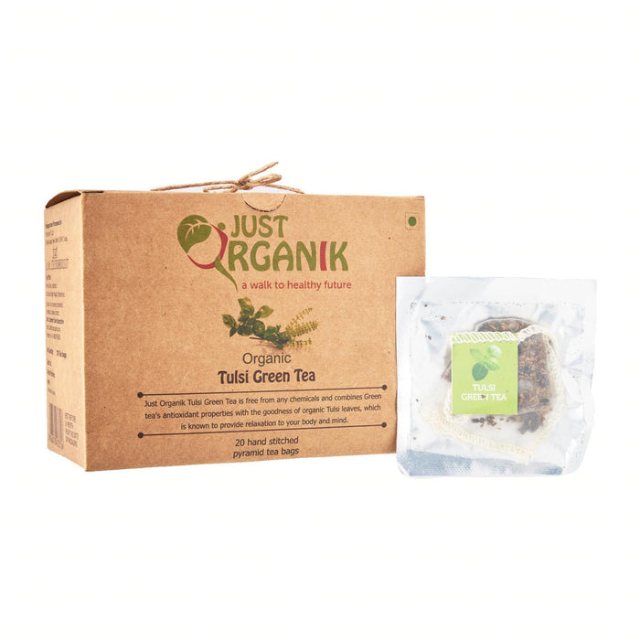 Just Organik Organic Tulsi Green Tea 20 Teabags
