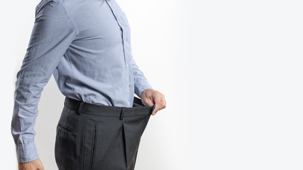 A Man in his 30s losing weight