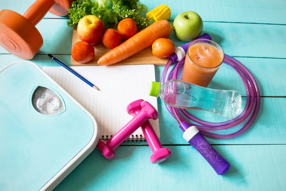 Count your calories and eat in a caloric deficit to lose weight