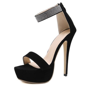 Black Gladiator Platform High Heel Pumps