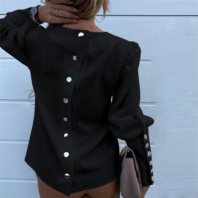 Long Sleeve Buttons Top