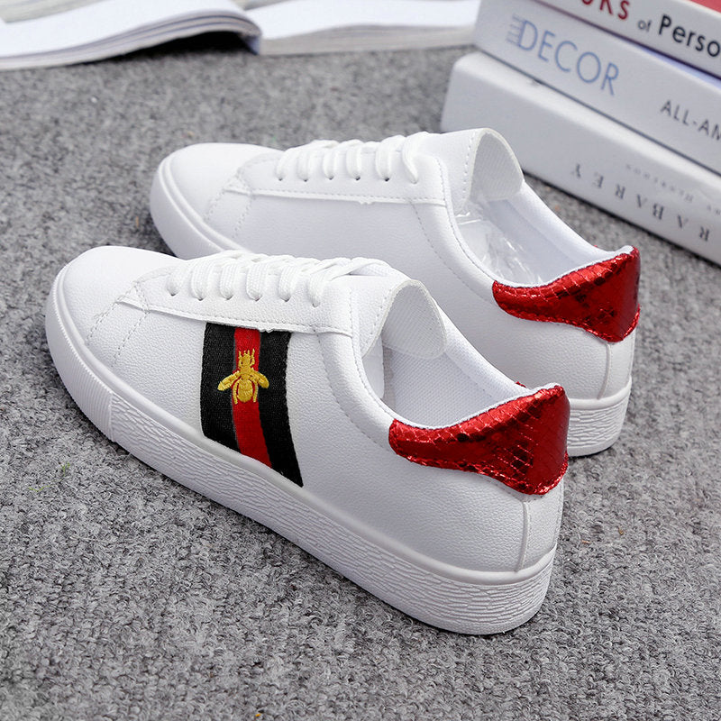 Bee Embroidered Casual Sneakers