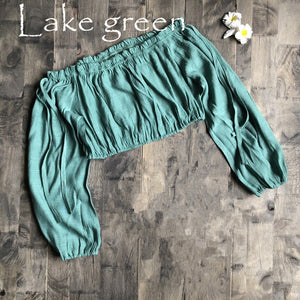 Lake Green Ruffled Summer Beach Top