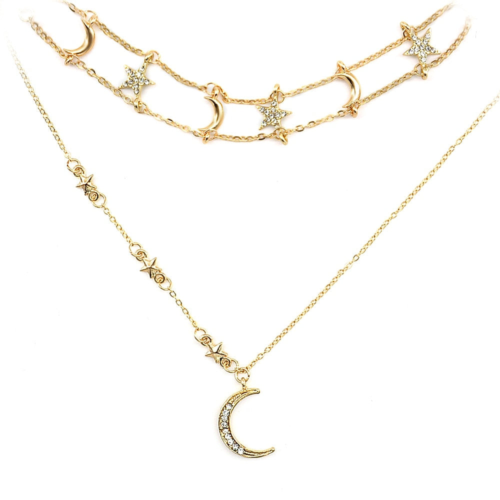 Star Moon Necklace