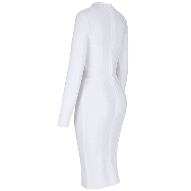 White Bandage Bodycon Dress