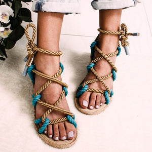 Rope Wedge Sandals