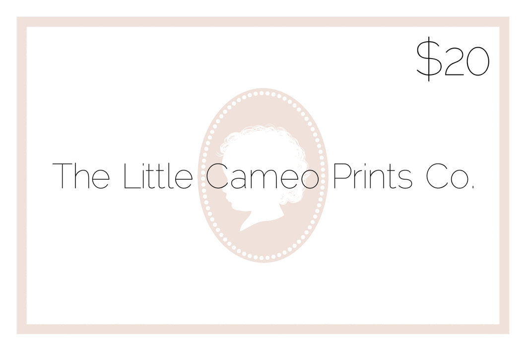 The Little Cameo Prints Co. Gift Card