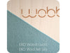 Wobbel Original Balance Board Transparent Lacquer/ Sky Wool Felt Wobbel Hip Mommies Canada