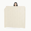 Gathre Midi Medium Sized Multipurpose Leather Mat in Blanc