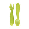 ezpz Mini Utensils (Fork + Spoon) in Lime