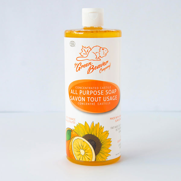 Green Beaver All Purpose Castile Liquid Soap Zesty Orange 495ml