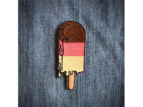 Les Tatoues popsicle iron on patch