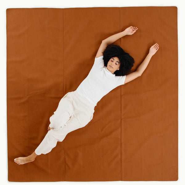 Gathre Maxi Large Sized Multipurpose Leather Mat Square in Ginger