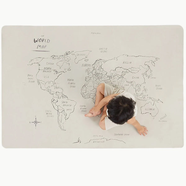 Gathre Mini+ Multipurpose Leather Mat, Tapestry in print World Map