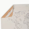 Gathre Micro Leather Change Mat, Playmat, Placemat in Print World Map