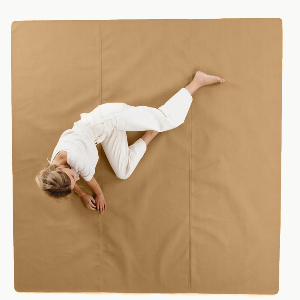 Gathre Maxi Large Sized Multipurpose Leather Mat Square in Camel