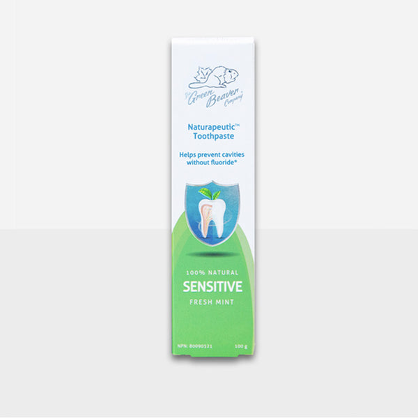 Green Beaver Toothpaste Naturapeutic Sensitive Teeth in Fresh Mint 100g