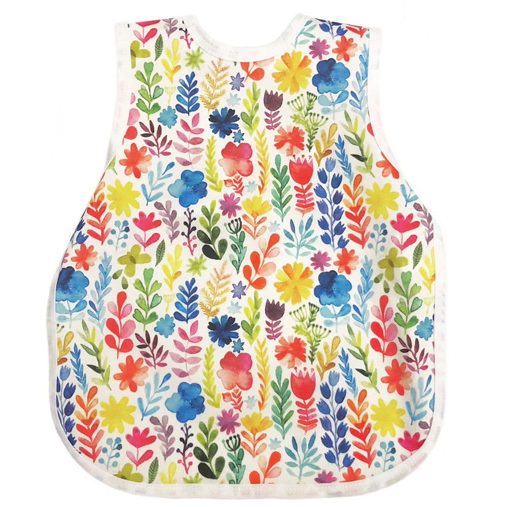BapronBaby Toddler Bib (6m+) Rainbow Watercolour Floral