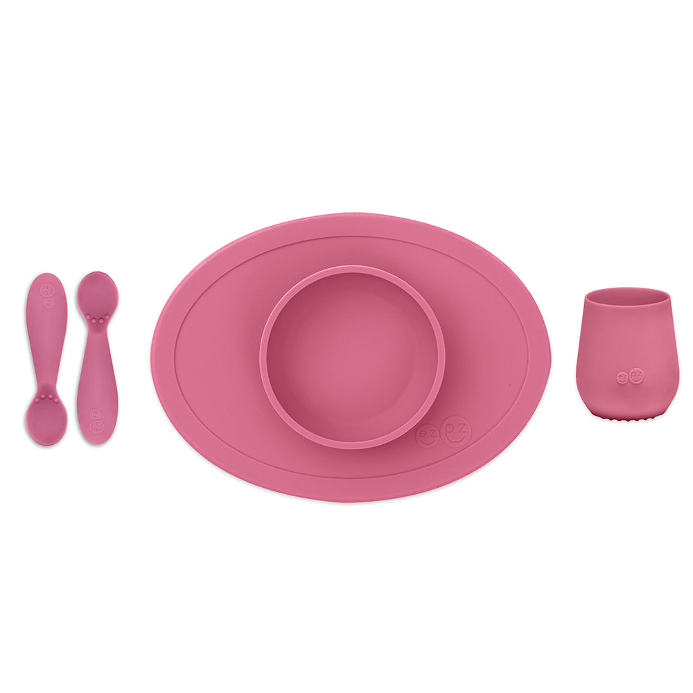 ezpz First Foods Set in Pink
